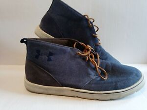 Under Armour Shoes Mens 11 Street Encounter Denim Jeans Look Mid Ankle Lace Up $22.00