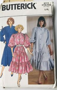 Vintage Sewing Patterns 1980s Butterick #3111 size L XL $10.00