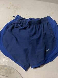 womens nike dri fit shorts small blue $10.00