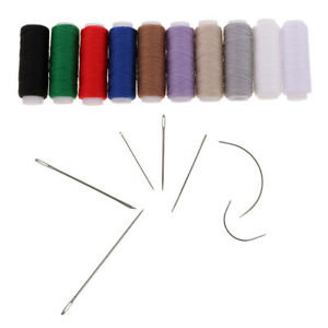 17pcs Jeans Thread with Hand Sewing Needles for Leather Upholstery Canvas $8.98