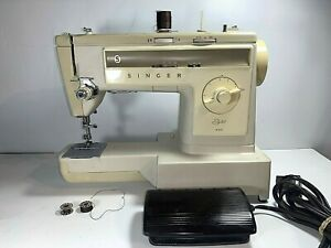 Singer Sewing Machine Stylist 533 with Pedal for Parts or Restoration Untested $47.90