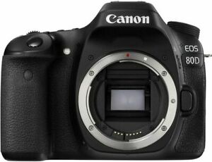Canon EOS 80D 24.2MP DLSR Camera Black Body Only $585.99