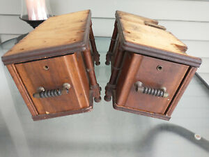 2 Antique Sewing Machine Draws amp; Frame Supports Wheeler amp; Wilson No 9 $39.00