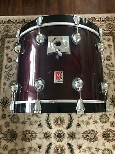 Premier 22quot; x 16 Genista Birch Bass Drum Damask Red 90s $230.00