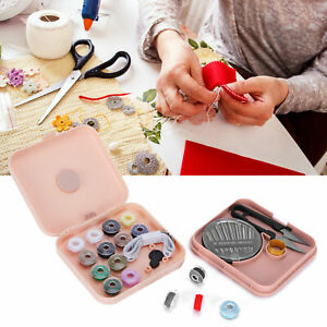Magnetic Sewing Kit Travel Portable Storage Box DIY Embroidery Needle Thread BS $11.07