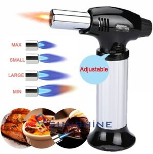 Windproof Refillable Adjusted Kitchen Blow Torch Lighter Culinary Cooking Torch