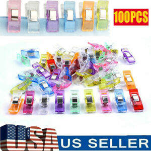 100Pcs Plastic Sewing Clips Clamp for Craft Quilting Knitting Crochet Binding $8.79