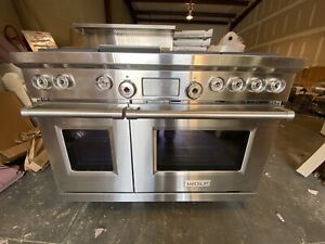 WOLF DF486 G 48 DUAL FUEL RANGE 6 BURNERS W GRIDDLE