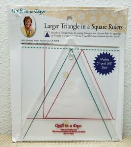 Quilt in a Day Larger Triangle in a Square Rulers $19.99
