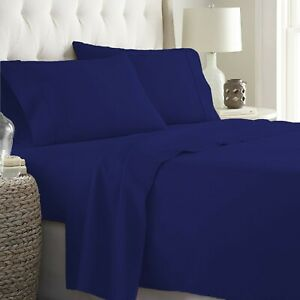 Prime Sheet Collection Choose Item Size 1000TC Egyptian Cotton Navy Blue Solid