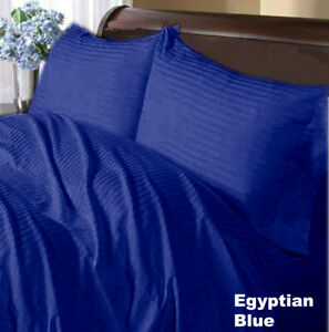 Prime Sheet Collection Choose Item Size Egyptian Cotton Egyptian Blue Striped