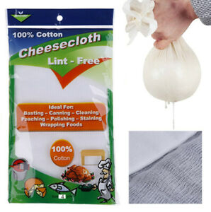 Grade 10 Cheesecloth 100% Unbleached Cotton Fabric Reusable Cheesecloth 4 Yards