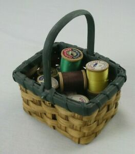10 Spool Lot of Vintage Antique Thread w Small Basket Coats amp; Clarks $22.99