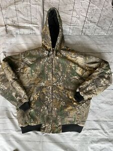 SCHMIDT WORKWEAR HUNTING 2XL MEN REALTREE CAMO HUNTING JACKET HOODED INSULATED