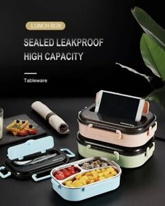 Thermos Lunch Box Bento Food Container Handle for Men Women Stainless Steel