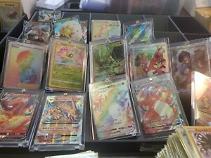 Pokemon Card Lot 100 Cards with 2 Ultra Rare Full Art Included GX EX MEGA OR V $22.50