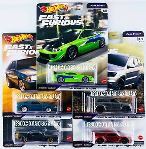 HOT WHEELS 2021 FAST FURIOUS PREMIUM FAST STARS COMPLETE SET OF 5 CAR IN STOCK $27.99