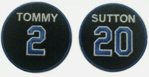 2021 Tommy Lasorda amp; Don Sutton Memorial Jersey Patch Los Angeles Dodgers