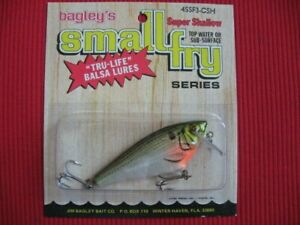 Bagley Small Fry Shad All Brass 3quot; Super Shallow 4SSF3 CSH Fishing Lure MIP