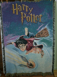 2000 Harry Potter Quidditch Game Woven Tapestry Throw Blanket 40�x60� 1AL6201 $30.00