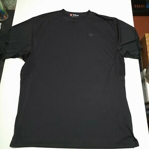 Wilson Men's XL Black Hyper Tech System Dry Fit Shirt Pre Owned Very Good Cond $12.95