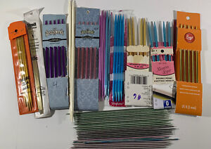 Lot of Vintage Double Point Knitting Needle Sets 60 Pieces Metal amp; Plastic $21.99