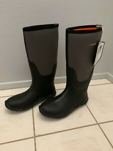 HISEA BOOTS SIZE 10 MEN GRAY BLACK MUCK HUNTING BOOTS