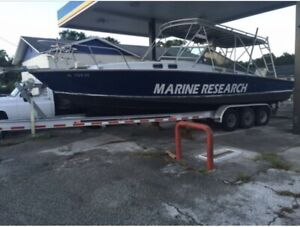 HULL ONLY 1973 32#x27; CARRY EXPRESS OFFSHORE FISHING BOAT 700 GALLONS FUEL TANKS