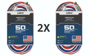 50 ft. Lighted extension cord USW outdoor cord