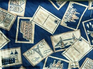 TRAVEL PATTERN COTTON PILLOWCASE NEW QUEEN SIZE Or Smaller $16.99