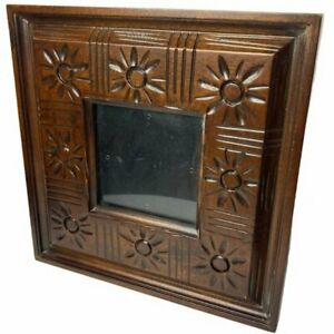 Boho Flower Square Wood Picture Frame $20.00
