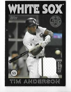 2021 TOPPS SERIES 2 1986 RELIC TIM ANDERSON BLACK 41 199