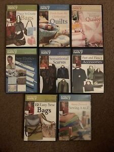 SEWING WITH NANCY 8 DVD Lot See Photos For Titles $50.00