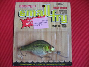Bagley Small Fry Crappie 2DSF2 C Brass Hardware Deep Diver Fishing Lure MIP