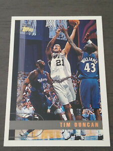 1997 98 Topps Tim Duncan Rookie Card #115