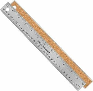 Metal Rulers 12quot; Stainless Steel Corked Backed Metal Ruler Straight Edge $11.99