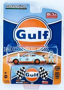 GREENLIGHT GULF 2021 FORD MUSTANG MACH 1 MIJO EXCLUSIVE