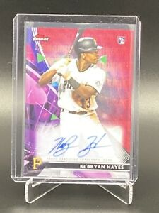KEBRYAN HAYES 2021 Topps Finest Red Wave Refractor AUTO Pirates RC 2 5 $799.99