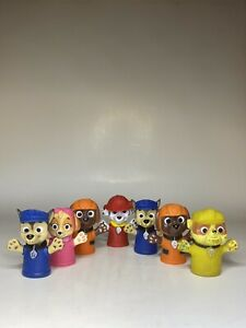 Nickelodeon Paw Patrol Finger Puppets Educational Bath Creative Play Set of 7 $4.99