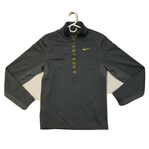 Nike Athletic Pullover Baselayer Livestrong Half Zip Dry Fit Shirt Men Sz Small $18.99