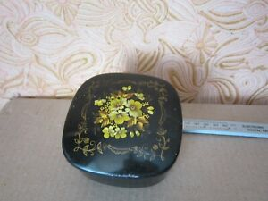 VINTAGE Box Antique Aluminum painted USSR Flea fifties year Painted Jewelry $20.00