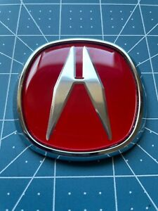 """2.5"""" DIAGONAL RED A  ACURA EMBLEM BADGE FRONT or REAR $20.00"""