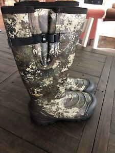 Cabela#x27;s Zoned Comfort Trac Insulated Rubber Hunting Boots for Men Size 9 Medium