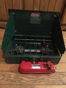 Vintage Coleman Camping Stove 425F Two Burner Camp Stove