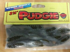 Lunker City Pudgie 3.5quot; finesse bait discontinued Green Pumpkin