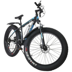 26 inch 4quot;W Fat Tire Mountain Bike 21 Speed Bicycle High Tensile Steel Frame A