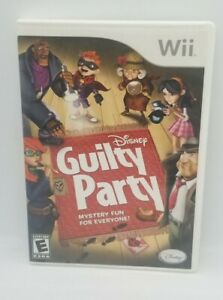 Disney Guilty Party Nintendo Wii Video Game Tested $5.99