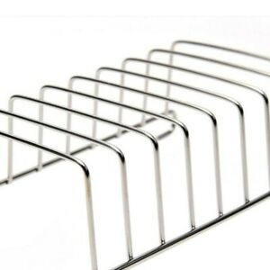 Bread Rack Holder BBQ Silver Durable Stainless Steel Air Fryer Home Convenient