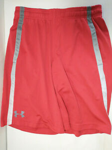under armour shorts men small red shorts heat gear $9.95