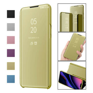 Flip Plated Case Mirror Soft Smart APP Cover For Samsung Galaxy M10S M30S M40S